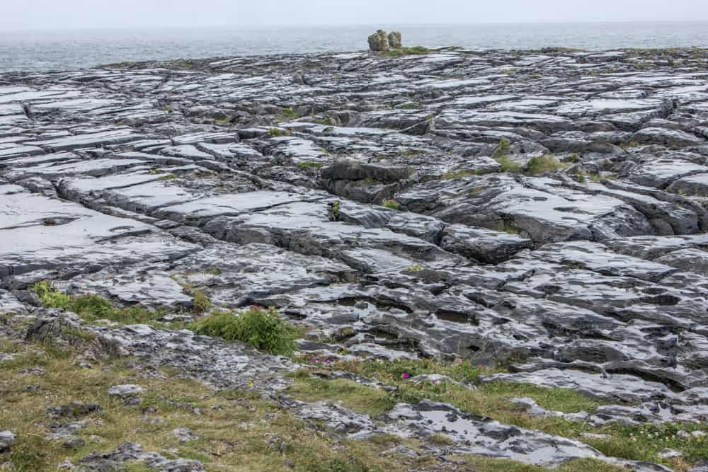 the burren in the rain along the wild atlantic way in ireland