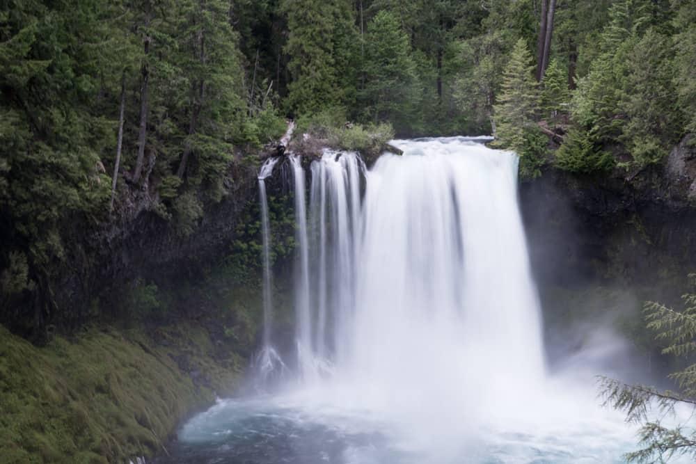 Koosah Falls in McKenzie River in Oregon