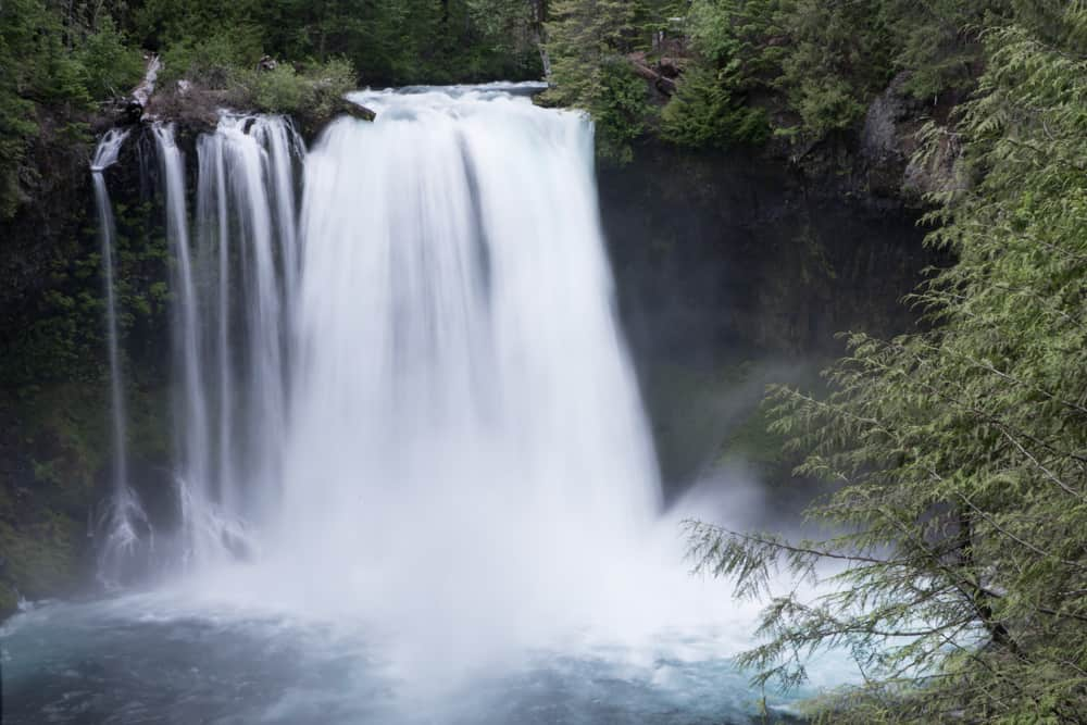Koosah Falls in McKenzie River in Oregon
