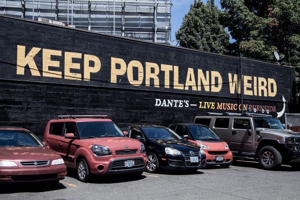 Keep Portland Weird sign in Oregon