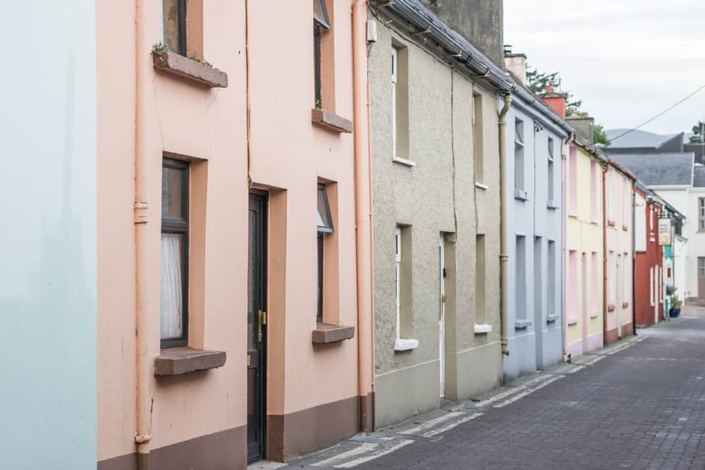 colorful houses on street in killarney in ireland