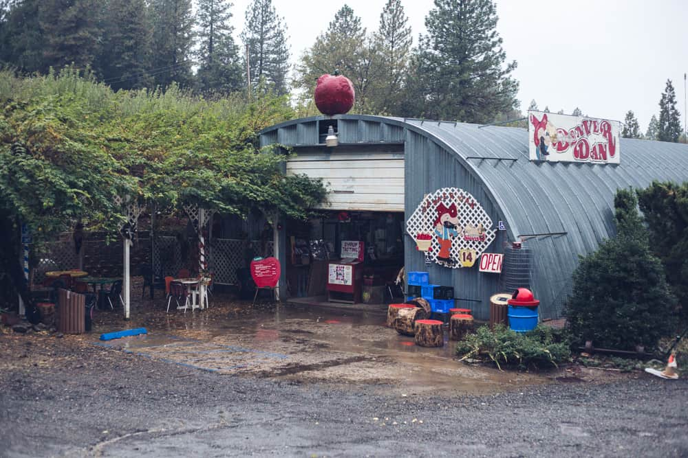 Denver Dan's Apple Patch in fall at Apple Hill in Placerville is a great place to go apple picking and enjoy delicious sweets!