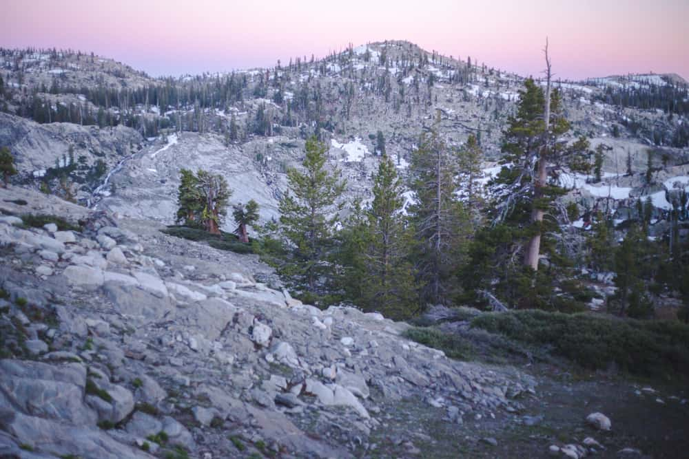 Emigrant Wilderness in the Eastern Sierras in California