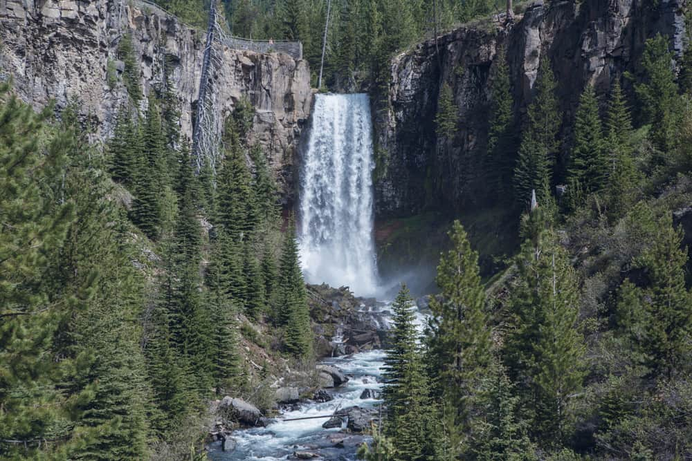 Tumalo Falls near Bend in Oregon