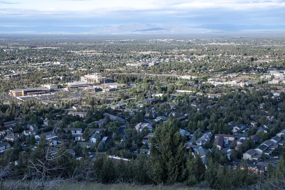 View of Bend from Pilot Butte