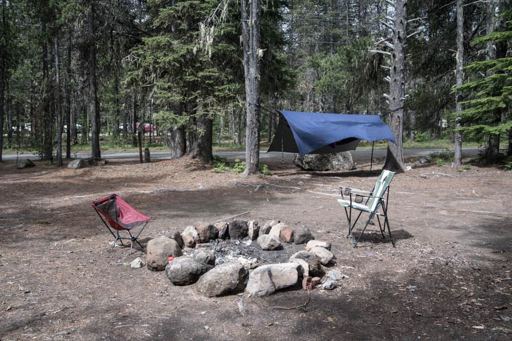 Free campsite at Mt Hood in Oregon