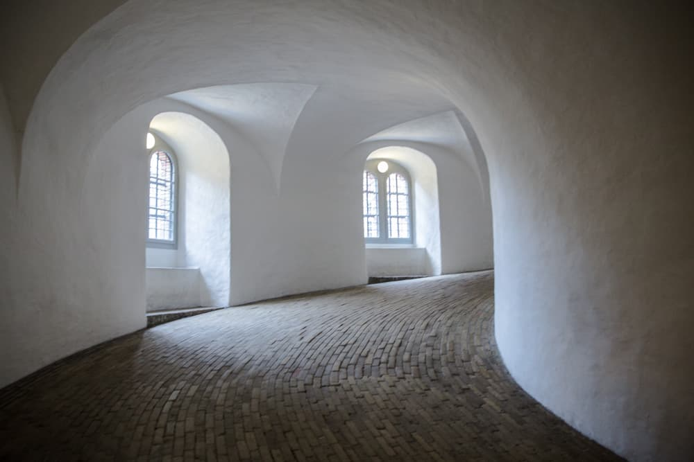 The Round Tower in Copenhagen, Denmark in January