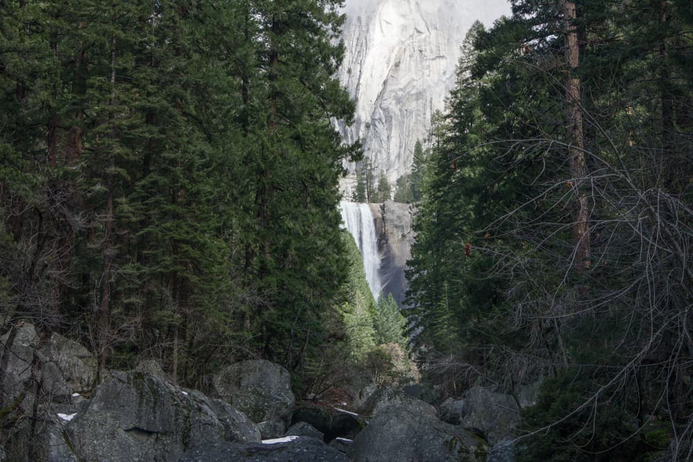 Vernal Falls in Yosemite National Park in California