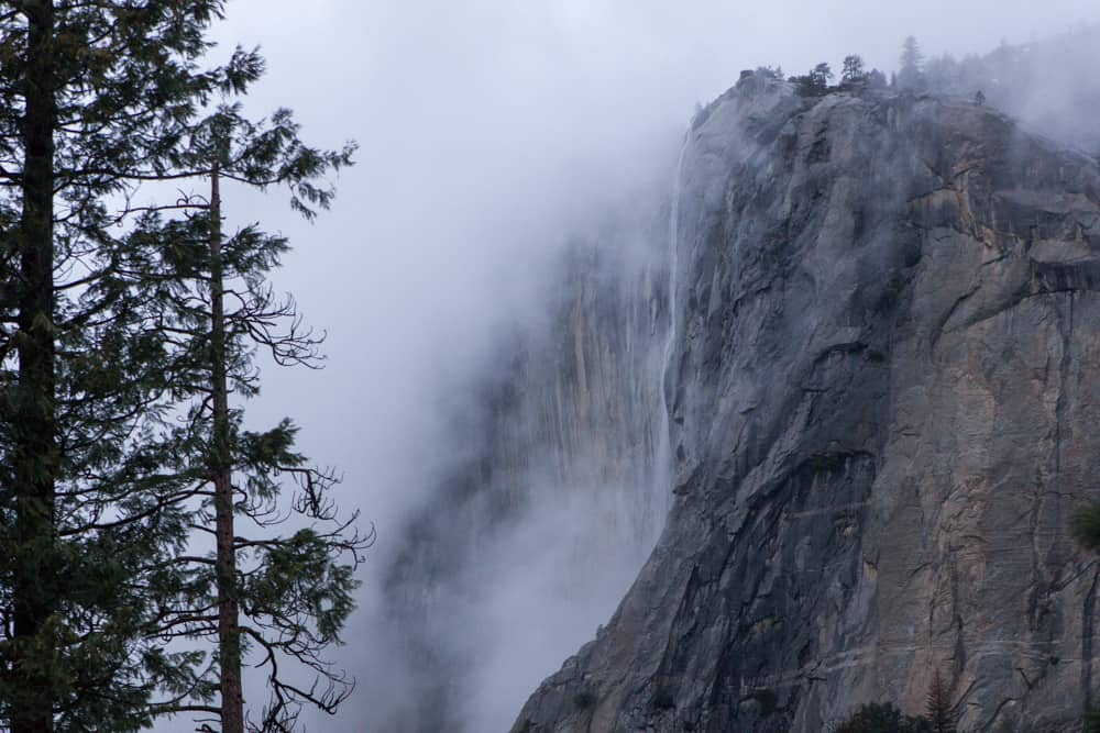 Horsetail Falls in Yosemite National Park in California