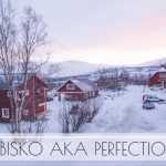 abisko, sweden in the middle of winter