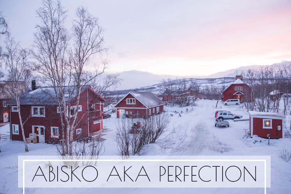 Red buildings in Abisko, Sweden