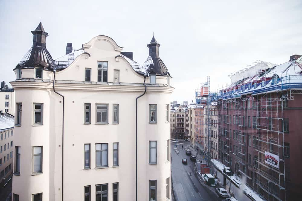 View from The Generator Hostel in Stockholm, Sweden