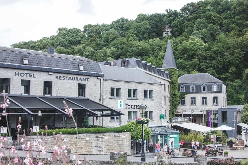 Plaza in Durbuy, Belgium