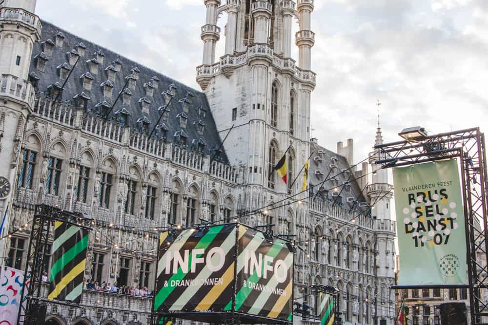 Concert in Brussels, Belgium at the Grand Place