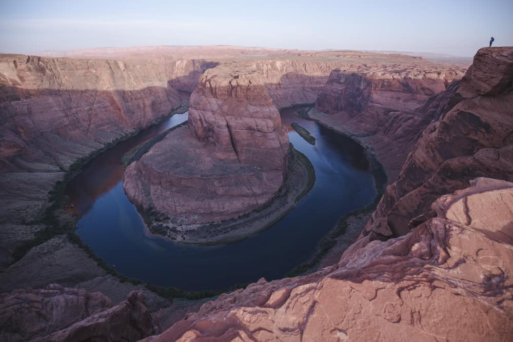 Horseshoe Bend at Sunrise in Page, Arizona