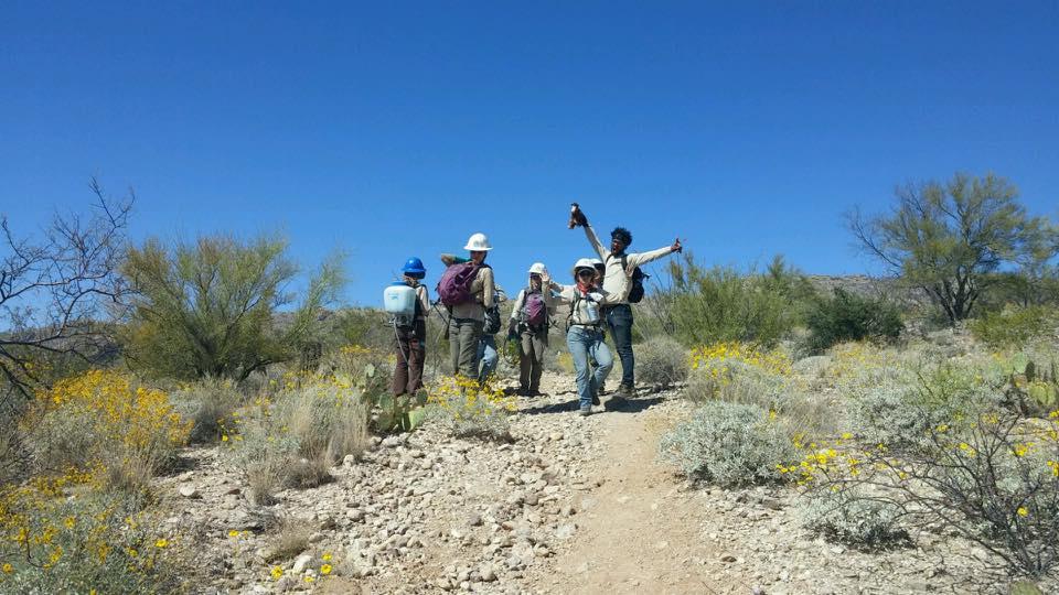 People standing in the desert in Arizona