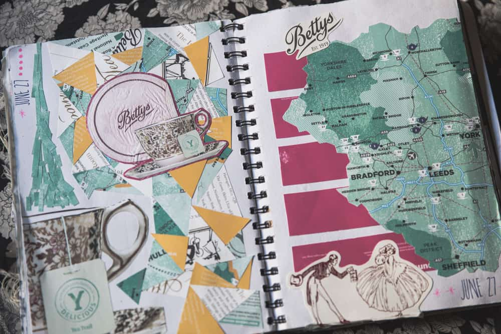Get creative with your travel journal and make a collage!