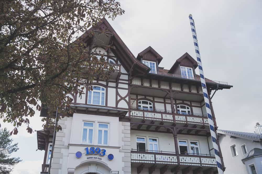 Traditional architecture building in Starnberg, Germany