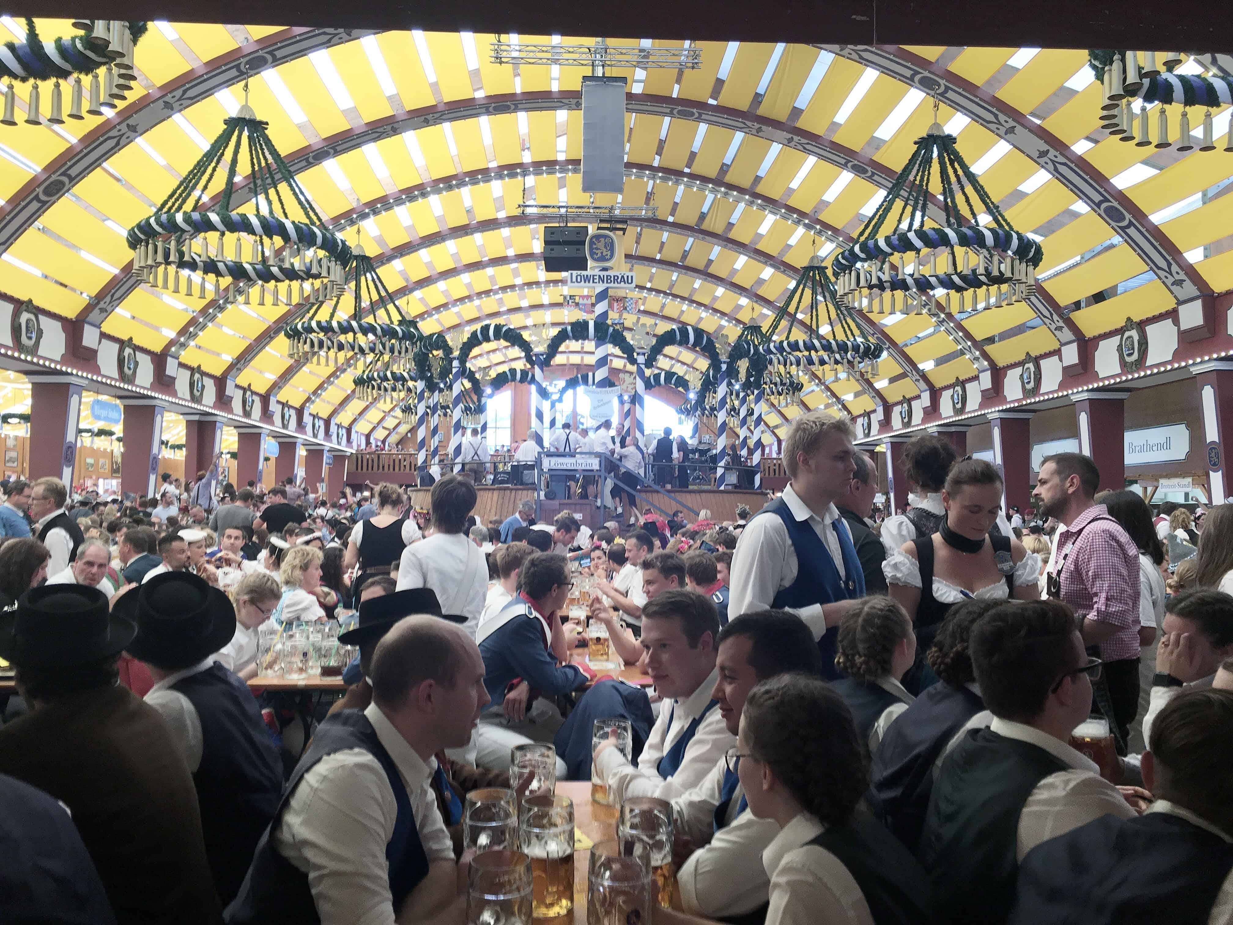Löwenbräu Beer Hall at Oktoberfest in Munich, Germany
