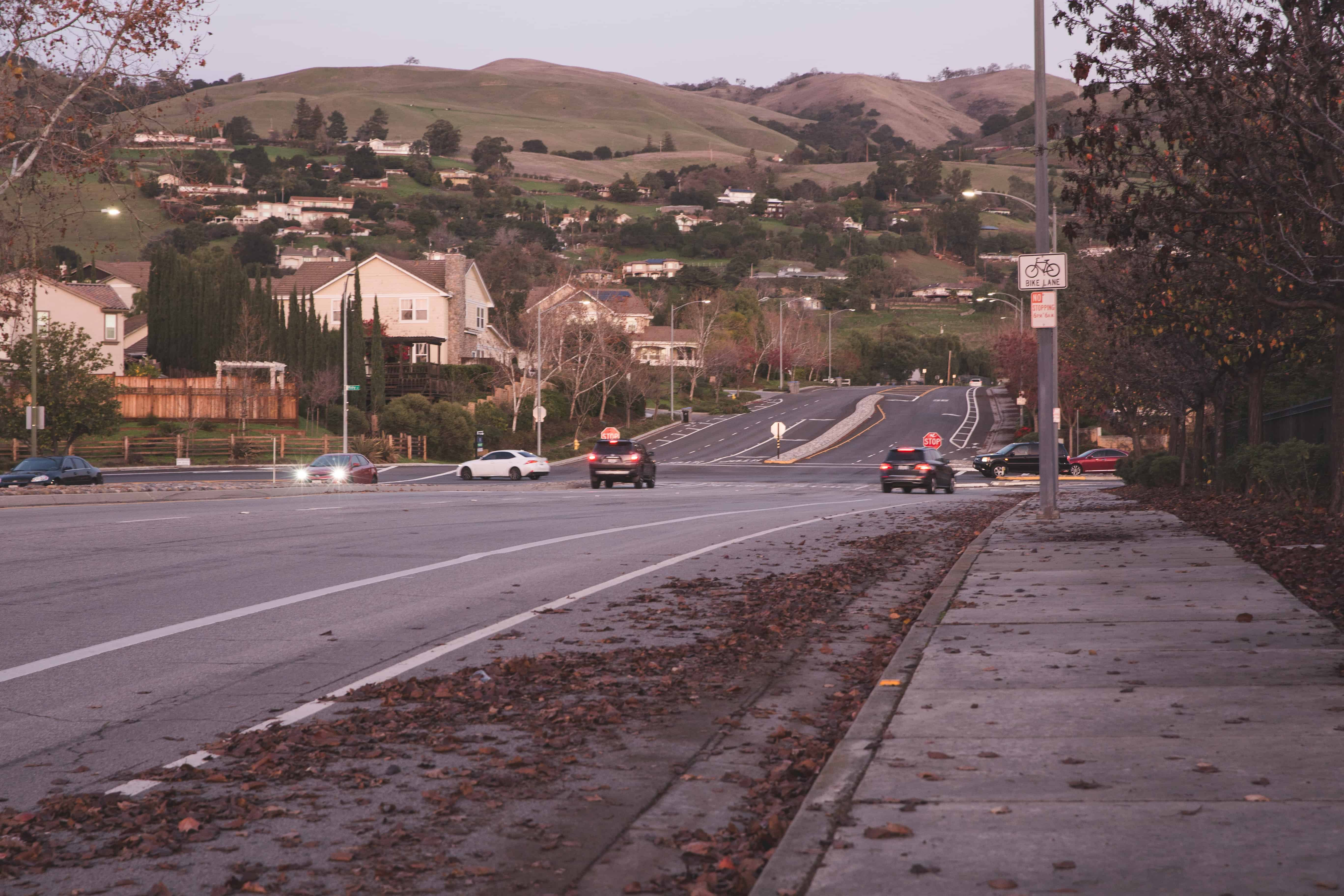 The hills in San Jose, California - the urban-ness of the Bay Area is one of the reasons I'm ready to leave