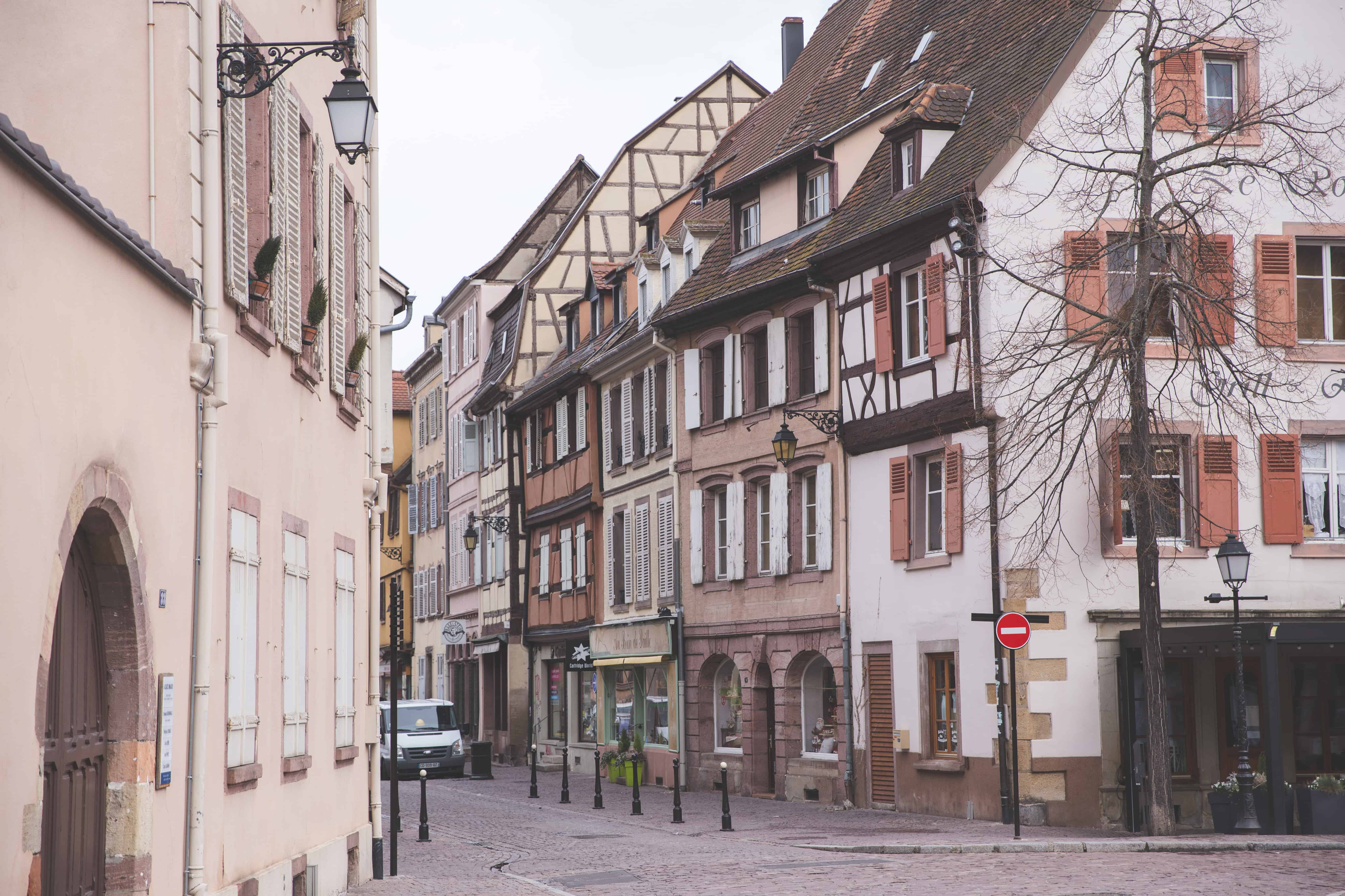 Colmar, France is an easy day trip from Basel, Switzerland and is full of colorful buildings and houses