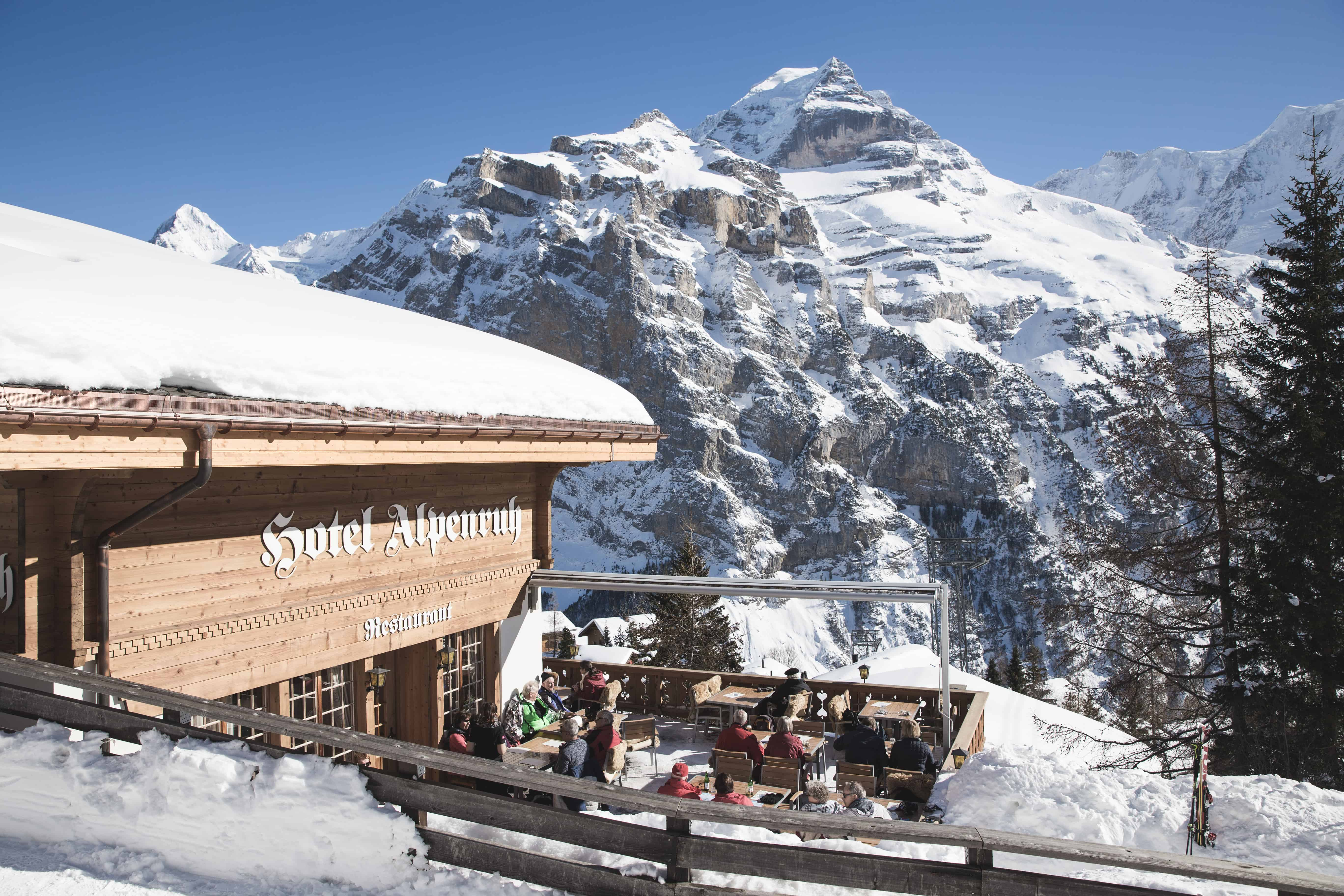 Hotel Alpernath is a good spot to get a rösti in Mürren, a ski town in the Swiss Alps