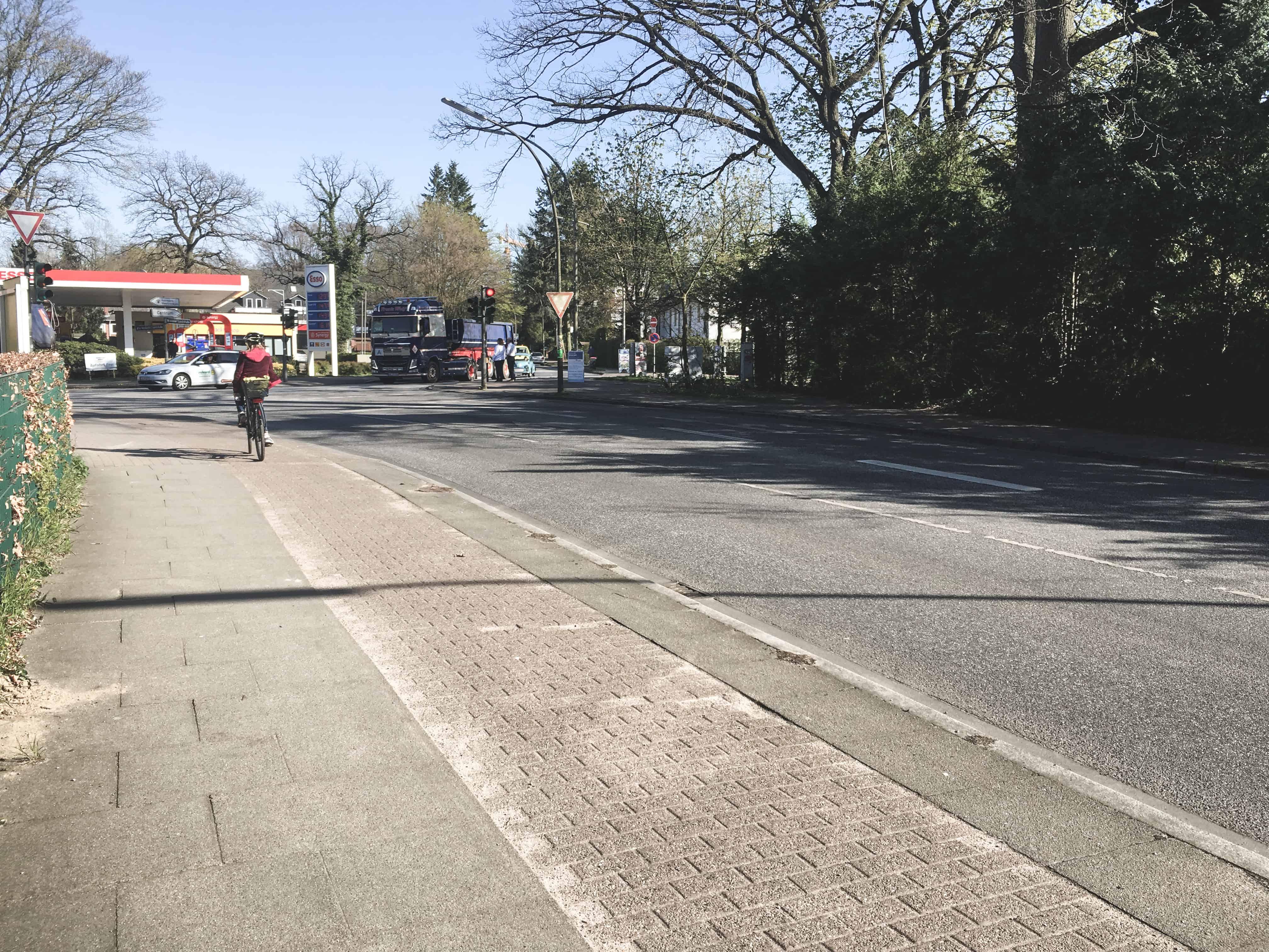 Bike lane in Germany