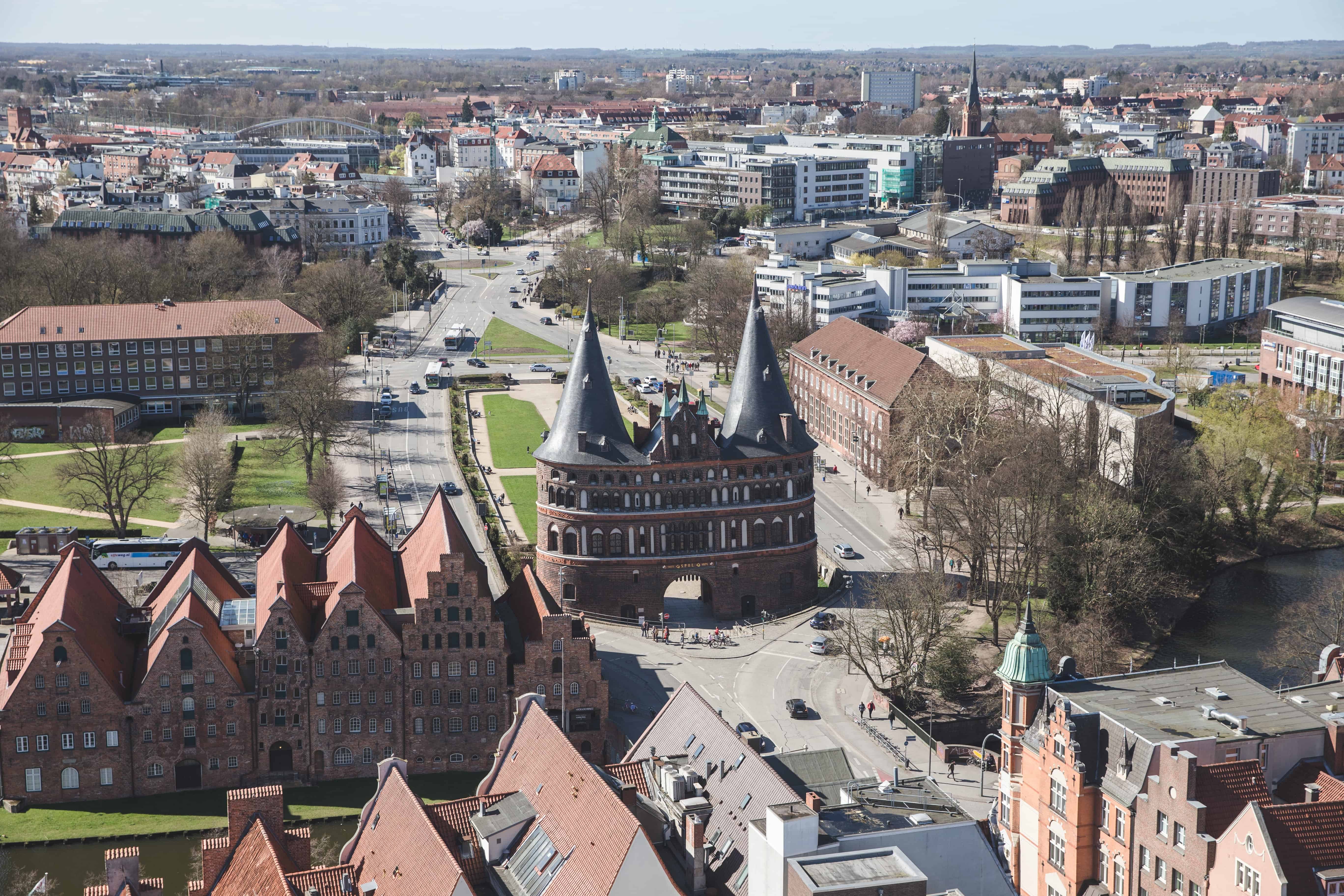 The Lübeck city gate in Germany