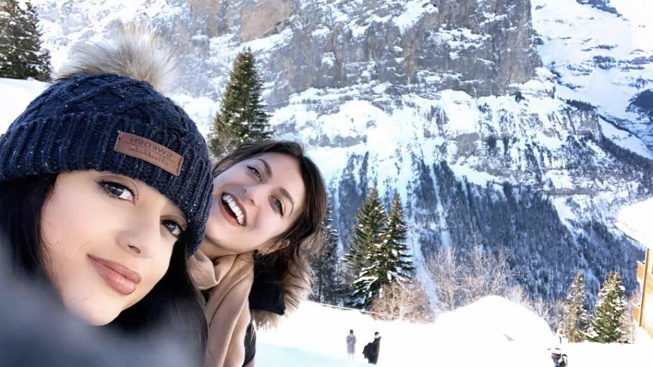 Being a digital nomad can be lonely! I miss having my friends with me, and having a community in general - my travel buddy and I in Murren, Switzerland in February 2019
