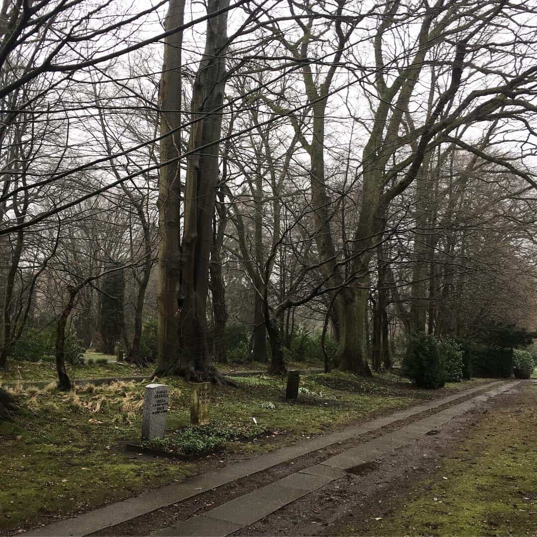 The Ohlsdorf Cemetery is just one of the 1460 parks in Hamburg, Germany
