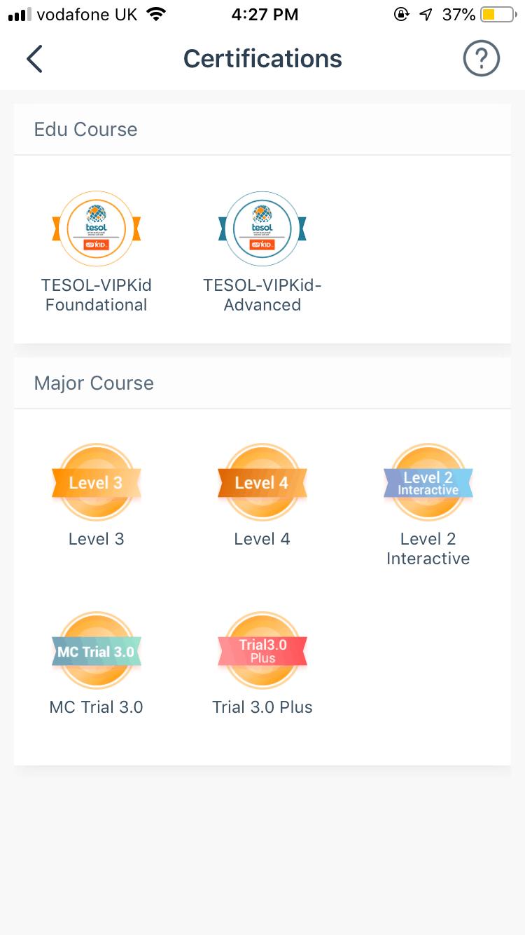 VIP Kid Certifications