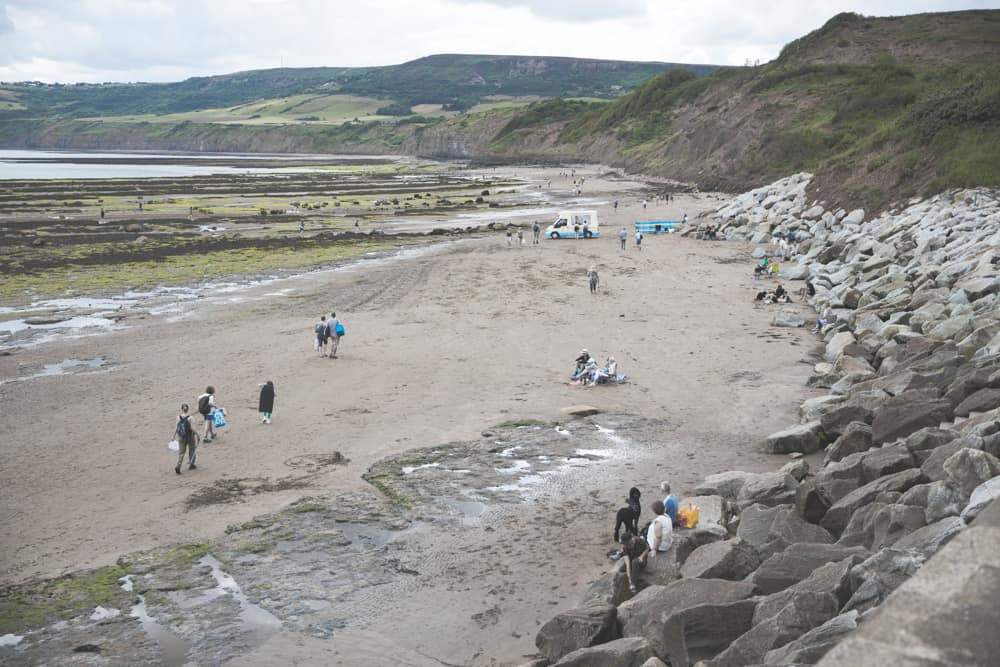 The beach at Robin Hood's Bay in England - one of the Yorkshire coastal towns to visit