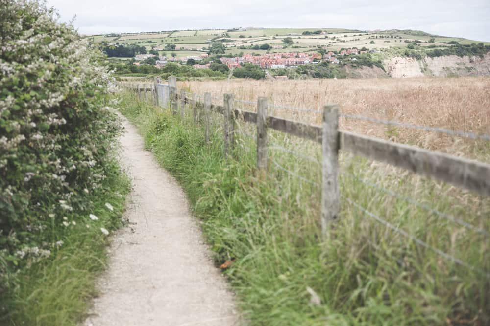 The Cleveland Way near Robin Hood's Bay, a Yorkshire coastal town to visit in England