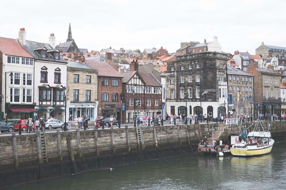 Whitby Harbor in Whitby, England - a pretty Yorkshire coastal town to visit