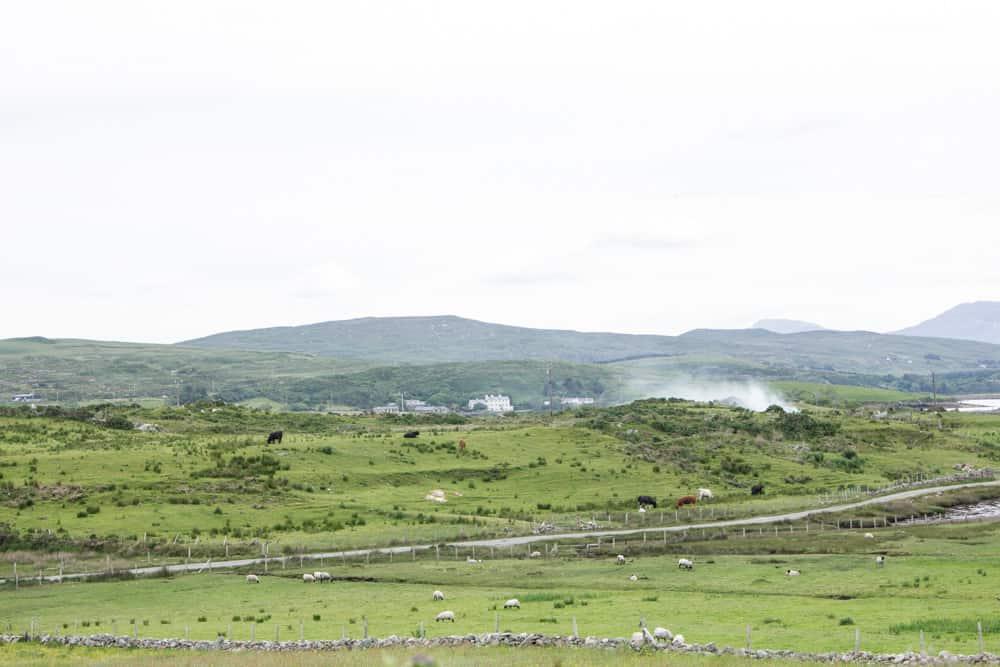 countryside in sky loop drive in ireland