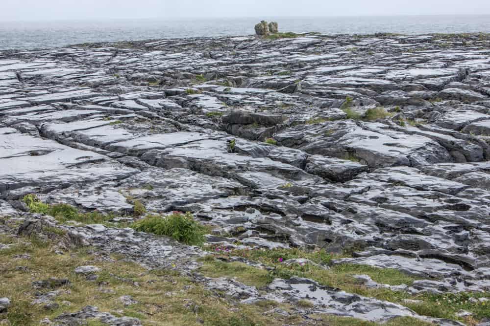 the burren in the rain along the wild atlantic way in ireland