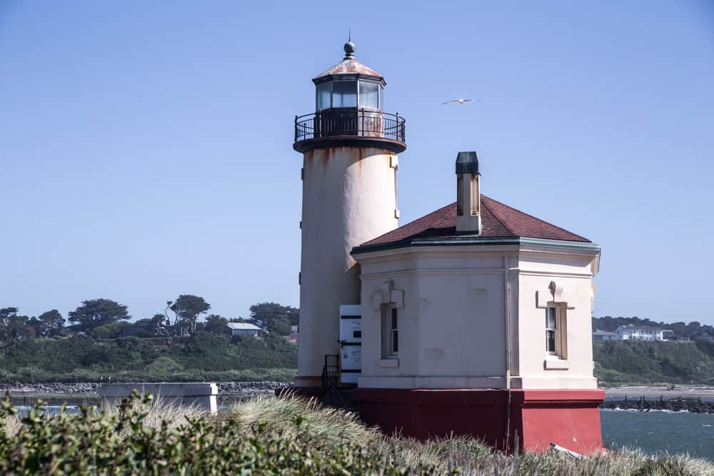 Coquille RIver LIghthouse on the Oregon Coast