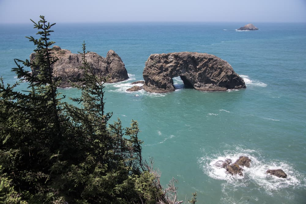 Arch Rock on the Samuel H. Boardman Scenic Corridor, one of my favorite stops along our road trip in Oregon