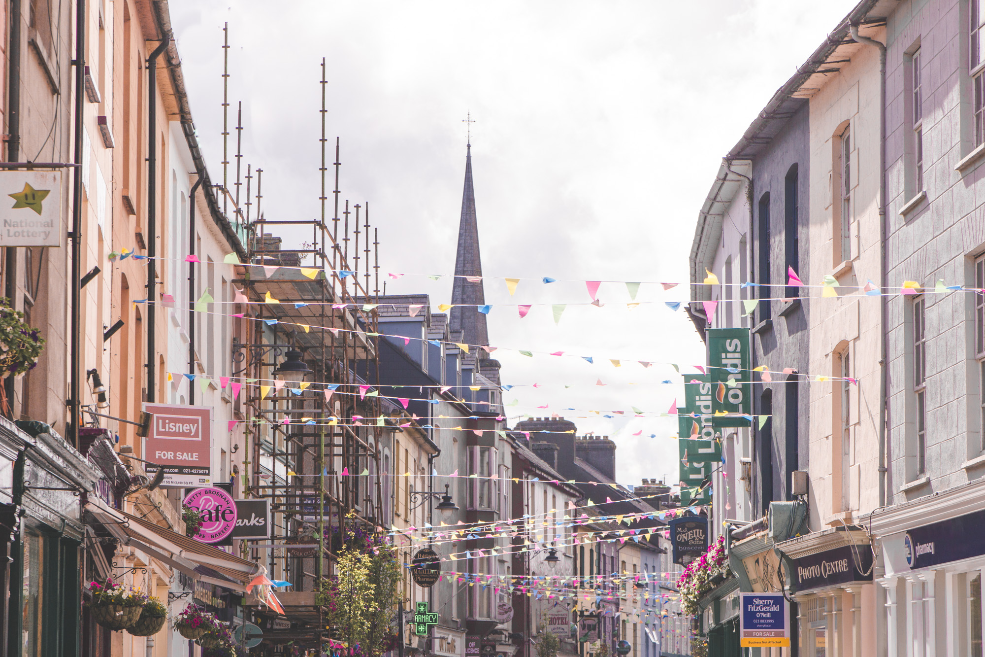 The town of Clonakilty in West Cork, Ireland is so colorful