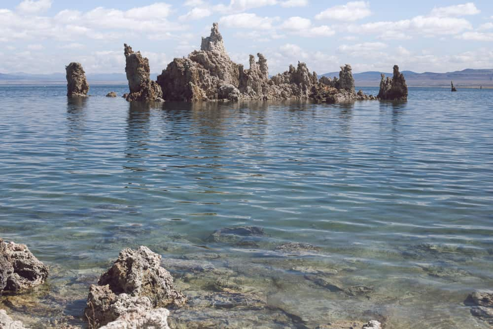 Mono Lake and its Tufas (large limestone structures rising out of the blue water) in the Eastern Sierras in California