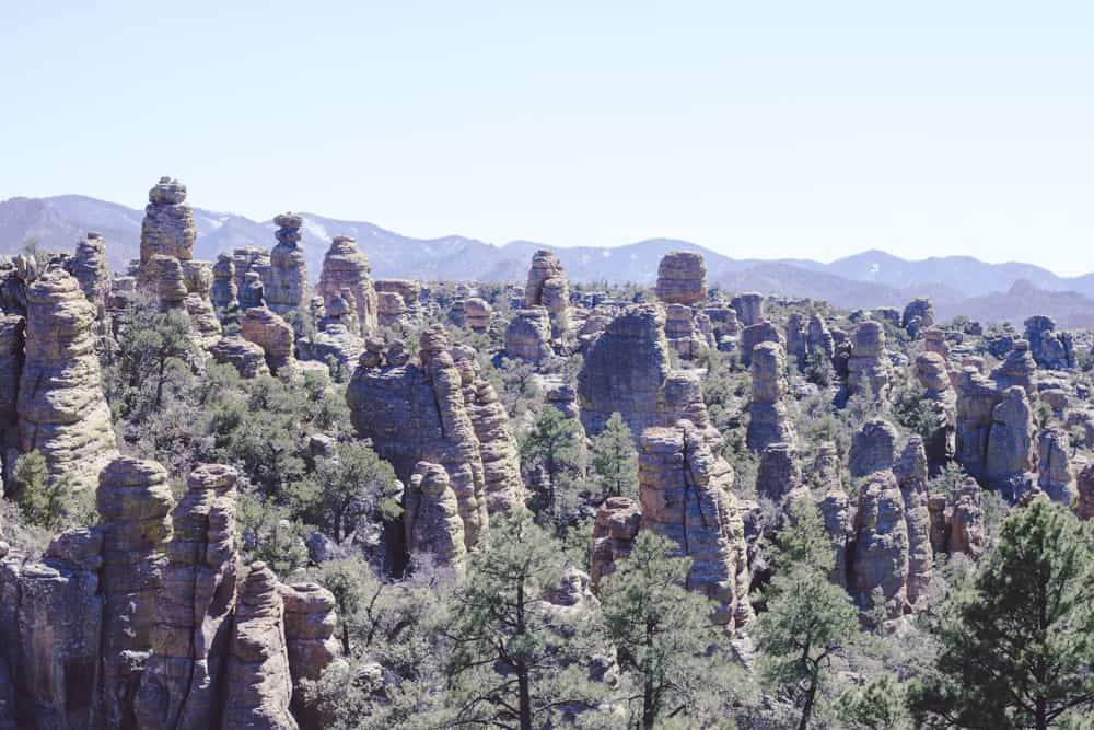 Hoodoos in Chiricahua in Arizona