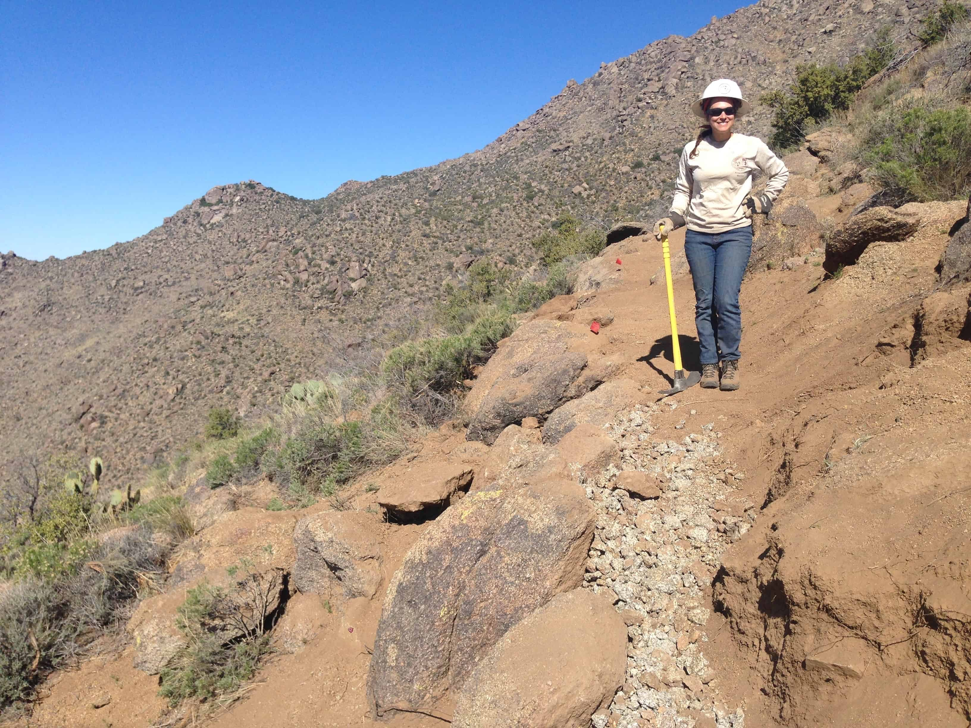 Standing at a trail I helped build in the mountainous desert in Arizona in the conservation corps