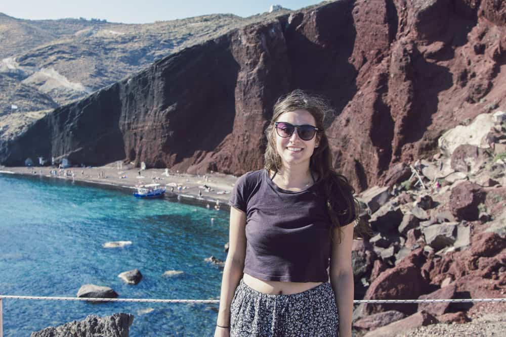 The Red Beach in Santorini, Greece - Santorini is a perfect destination for solo female travelers!