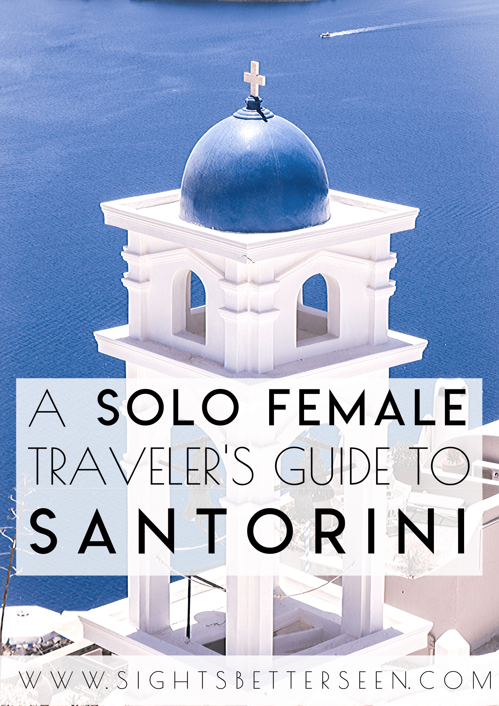 Santorini, Greece is a great destination for solo female travelers. It has beautiful views and blue domed churches and buildings. Learn the best tips and tricks for your perfect Santorini itinerary here!