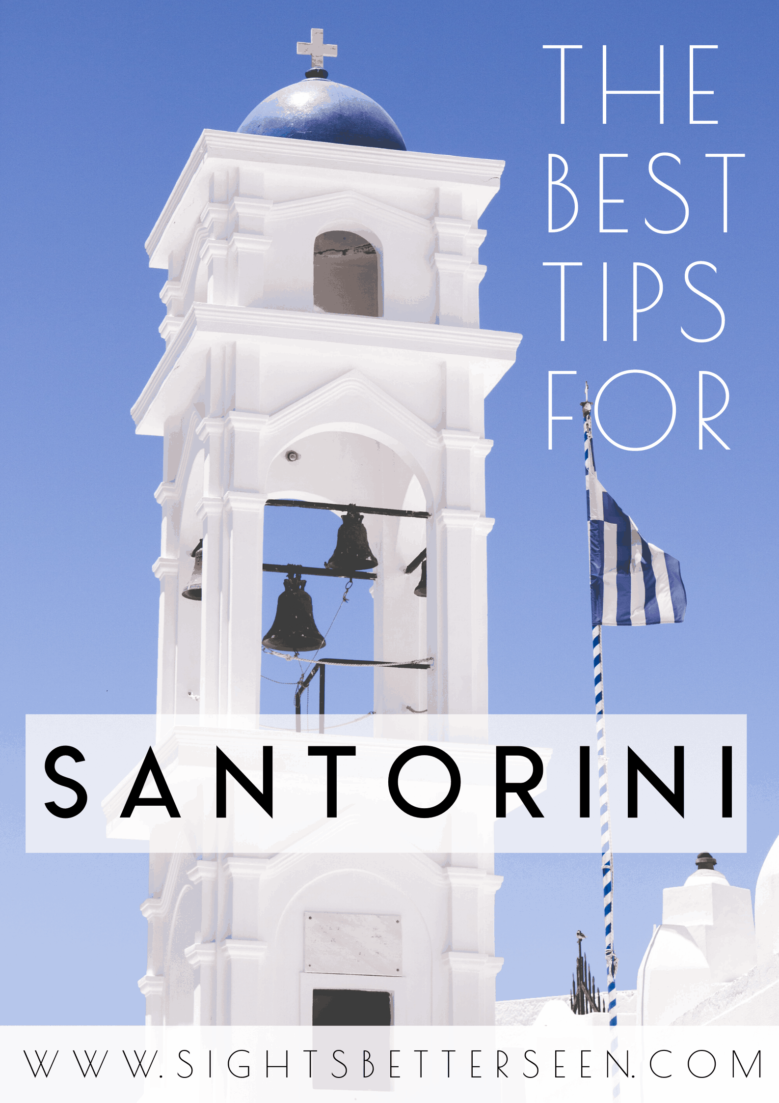 The best tips for your visit to Santorini, Greece! Santorini has beautiful white and blue-domed churches and buildings and this post will help you create the best Santorini itinerary.