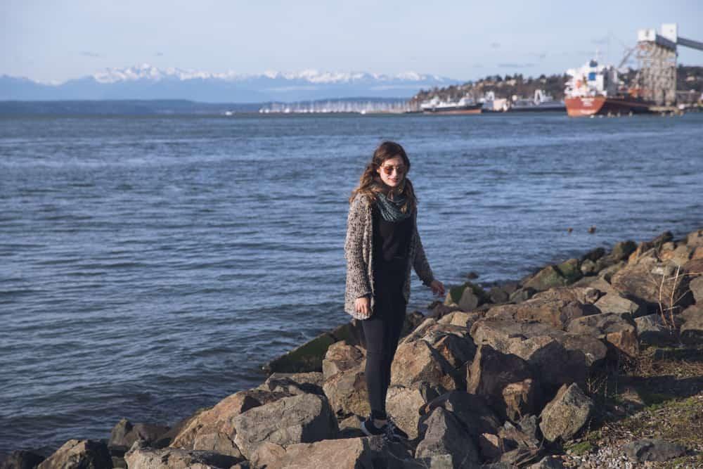 Kelsey in Myrtle Edwards Park in Seattle, Washington