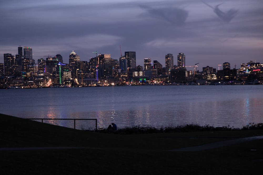 The waterfront at Gas Works Park in Seattle, Washington