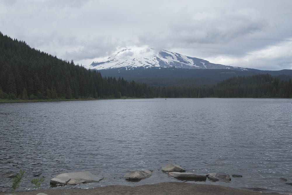 Mt Hood as seen from Trillium Lake