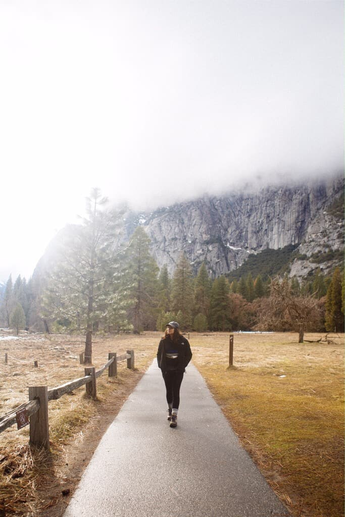 Yosemite Valley in the winter in Yosemite National Park - add this beautiful area to your winter itinerary!