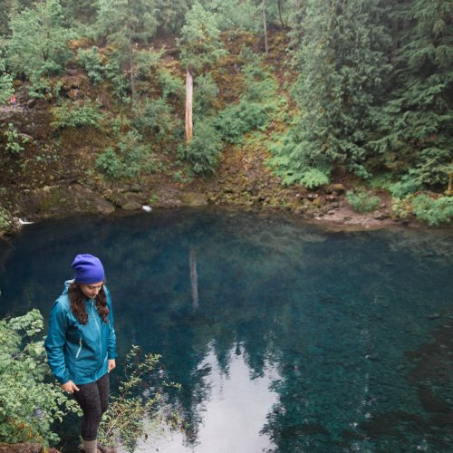 Kelsey at Tamolitch Blue Pool in Oregon
